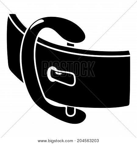 Elegant belt buckle icon. Simple illustration of elegant belt buckle vector icon for web design isolated on white background