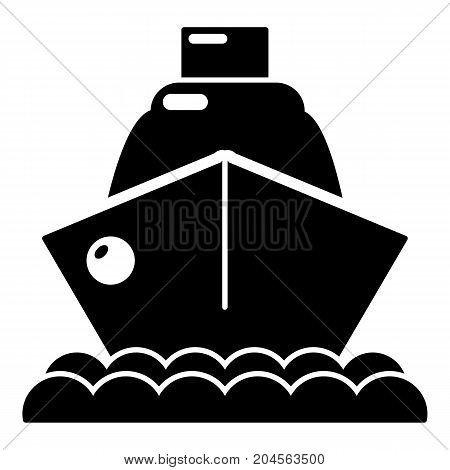 Cruise ship icon . Simple illustration of cruise ship vector icon for web design isolated on white background