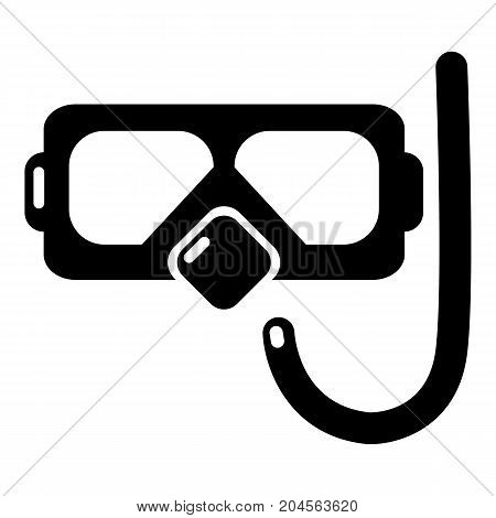 Diving mask snorkel icon . Simple illustration of diving mask snorkel vector icon for web design isolated on white background