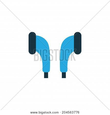 Premium Quality Isolated Headphone Element In Trendy Style.  Earmuff Colorful Icon Symbol.