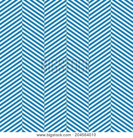 Seamless Blue and White Herringbone Pattern Background Texture