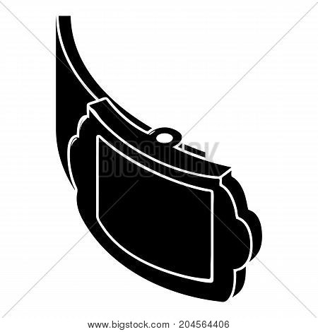 Trendy belt icon. Simple illustration of trendy belt vector icon for web design isolated on white background