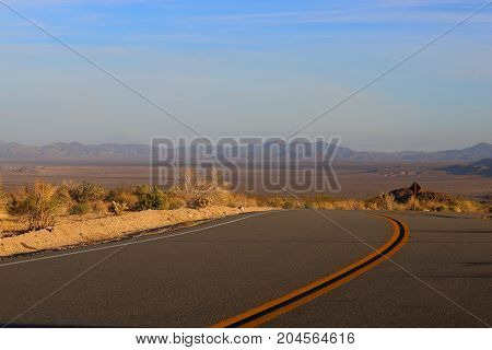 road to nowhere in the middle of the desert