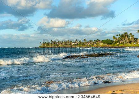 Scenic coastline on the west side of Maui island