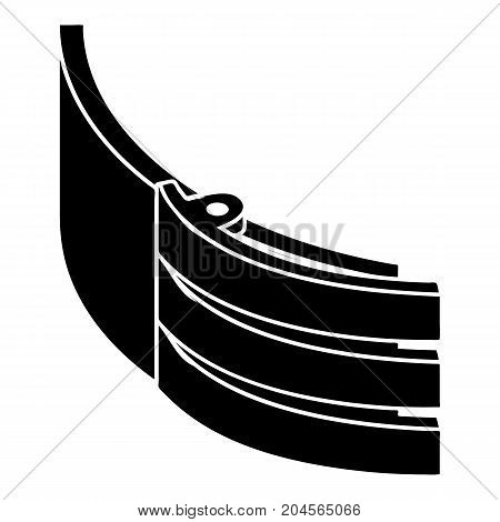 Strap belt icon. Simple illustration of strap belt vector icon for web design isolated on white background