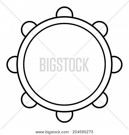 Little drums icon. Outline illustration of little drums vector icon for web design isolated on white background