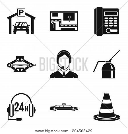 Thoroughfare icons set. Simple set of 9 thoroughfare vector icons for web isolated on white background