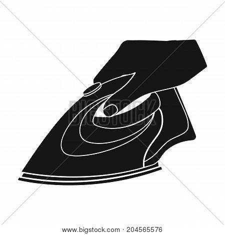Equipment, iron for ironing sewing. Sewing and equipment single icon in black style vector symbol stock illustration .
