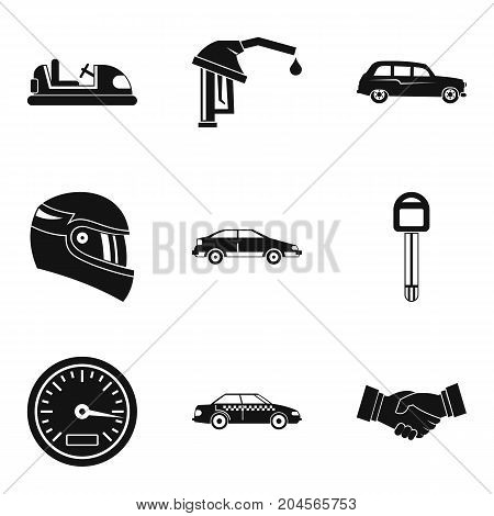 Speed icons set. Simple set of 9 speed vector icons for web isolated on white background