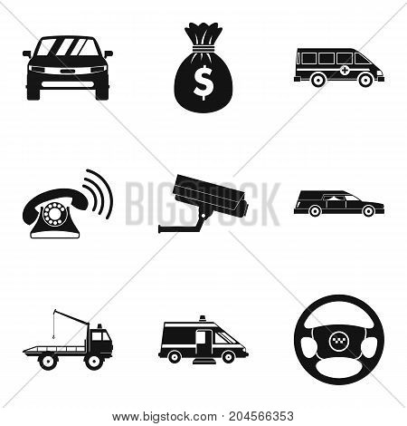 Transfer icons set. Simple set of 9 transfer vector icons for web isolated on white background