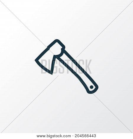Premium Quality Isolated Axe Element In Trendy Style.  Hatchet Outline Symbol.