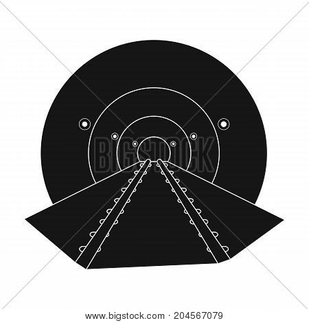 Tunnel, single icon in black style.Tunnel, vector symbol stock illustration .