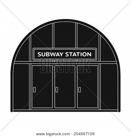 Metropolitan, single icon in black style.Metropolitan vector symbol stock illustration .