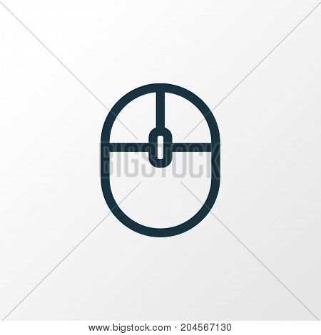 Premium Quality Isolated Control Device Element In Trendy Style.  Computer Mouse Outline Symbol.
