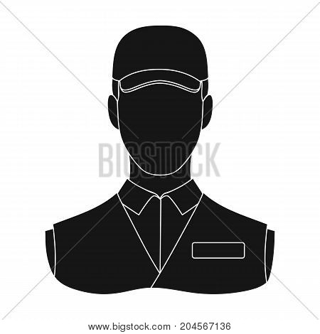Man single icon in black style.Man, vector symbol stock illustration .