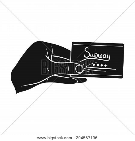Card single icon in black style.Card, vector symbol stock illustration .