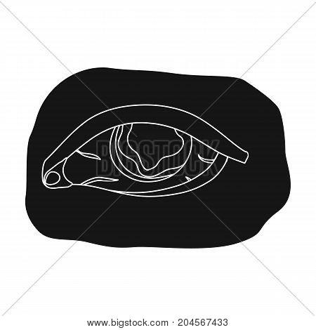 Eye single icon in black style.Eye, vector symbol stock illustration .