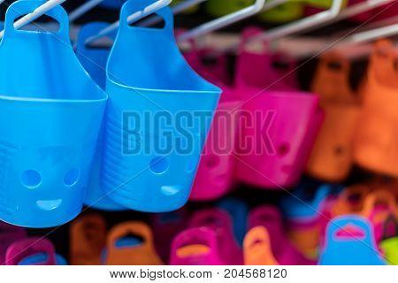 Multi Purpose Hanging Plastic Container For Stuff Organizer.