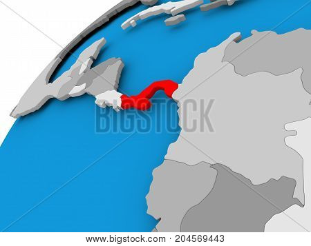 Map Of Panama In Red
