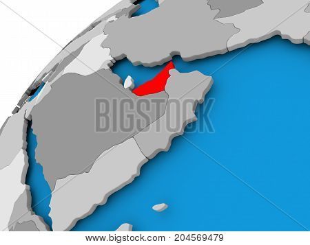 Map Of United Arab Emirates In Red