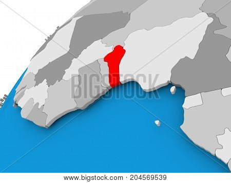 Map Of Benin In Red