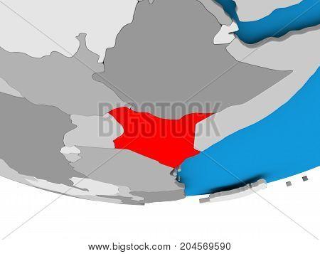 Kenya On Globe
