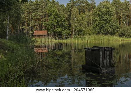 Nadnakolicky pond in south Bohemia region in summer afternoon