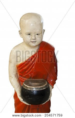 buddha boy statue safe donations white background