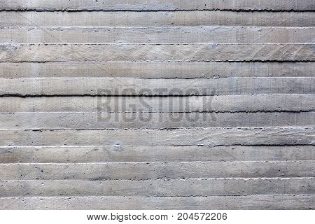 close up surface of cement wall strips pattern for background