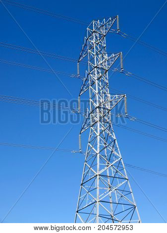 High Voltage Power Line Tower in San Francisco Bay Area