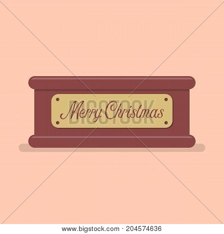 Merry christmas tag label. Vector illustration graphic