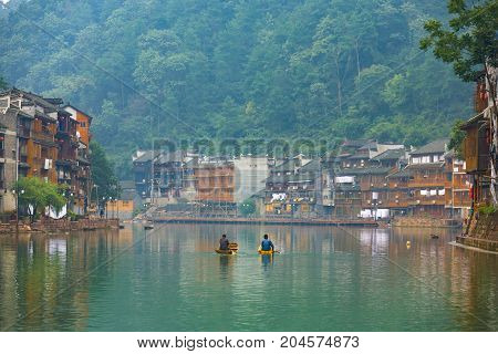 Fenghuang Village Riverside Traditional Houses