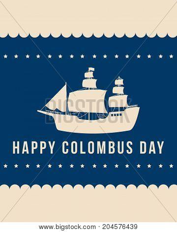 Happy Columbus Day celebration design banner vector illustration
