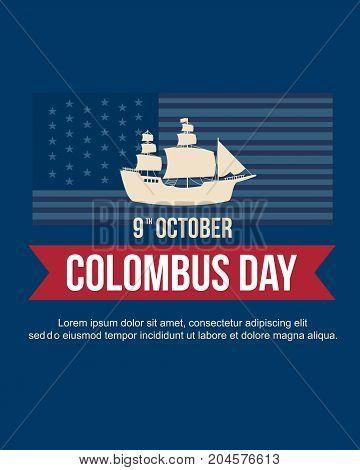 Columbus day celebration banner design vector illustration