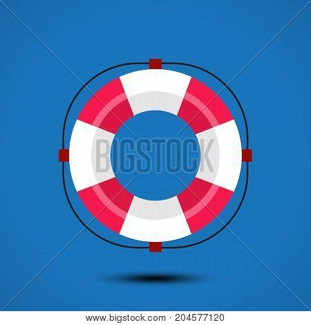 Life buoy icon. Vector illustration. eps 10