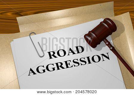 Road Aggression Concept