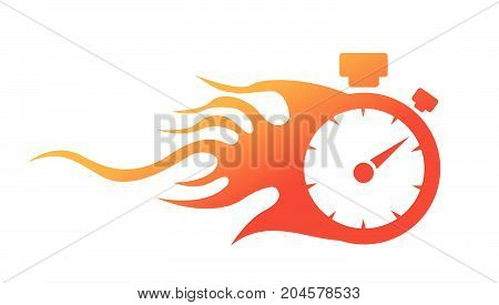 speedometer. abstract symbol of speed vector illustration