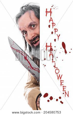 Insane Man With Knife