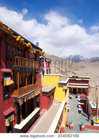 Tibetan Buddist Temple In Leh Ladakh, Kashmir, India