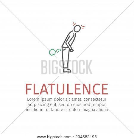 Flatulence sign. Vector icon for web graphic.