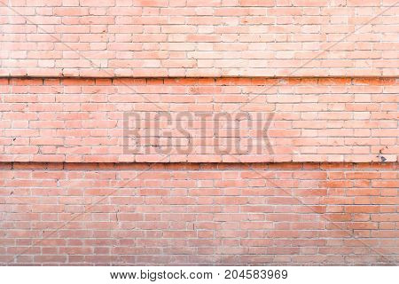 Industrial background empty grunge urban street with warehouse brick wall