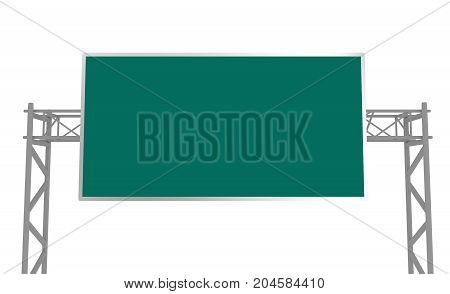 Highway Road Sign Isolated On White