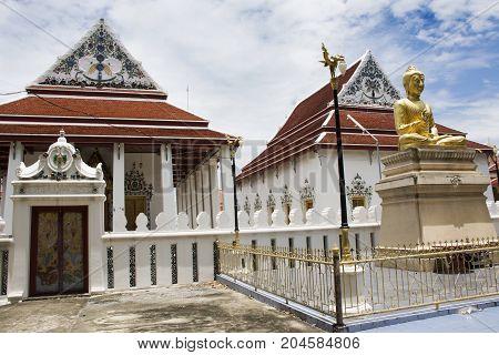 Wat Phaichayon Phon Sep Ratchaworawihan Temple In Samut Prakan, Thailand