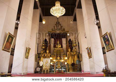 Golden Buddha Statue In Wat Prot Ket Chettha Ram Temple