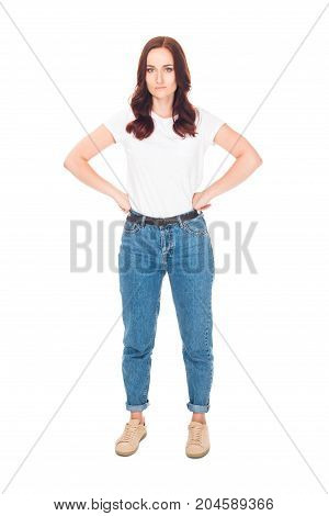 Dissatisfied Girl In Jeans