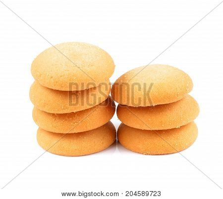 Tasty cookies isolated on white background .