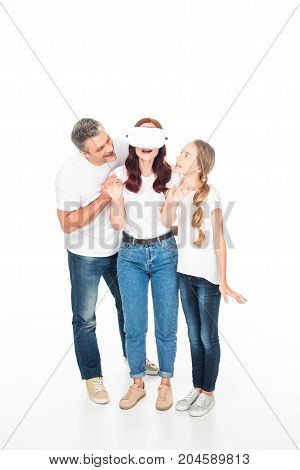 Family With Virtual Reality Headset