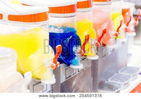 Colorful Cold Frozen Juice