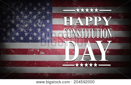 Happy Constitution Day background with USA flag