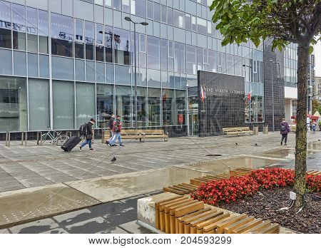 Katowice, Poland - September 16, 2017: New City Hall In Katowice